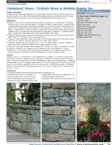 Tri-State Carderock Listing 2006 Sweeps Landscape Architecture Directory